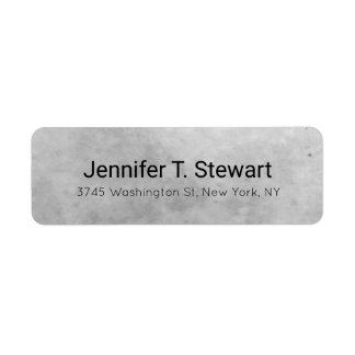 Trendy Modern Professional Elegant Grey Return Address Label