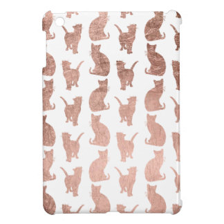Trendy modern rose gold cats pattern custom cover for the iPad mini