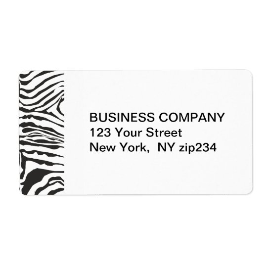 Trendy Modern  Zebra Black White Pattern