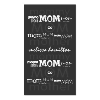 Trendy Mommy Calling Cards Pack Of Standard Business Cards