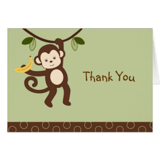 Trendy Monkey Thank You Note Cards