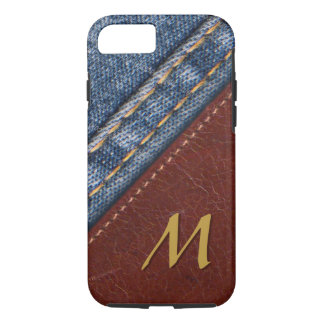 Trendy Monogram Denim and Leather iPhone 8/7 Case