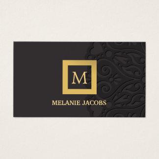 trendy monogram   event planner business card
