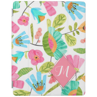 Trendy Monogram Floral iPad Smart Cover iPad Cover