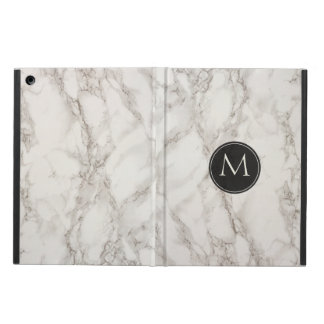 Trendy Monogram Initial Printed Marble iPad Air Cases
