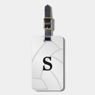 Trendy Monogram Volleyball Luggage Tag