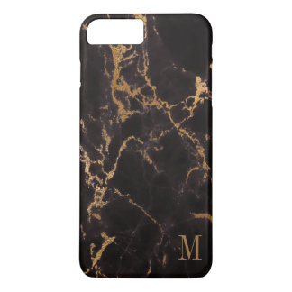 Trendy Monogrammed Gold Glitter iPhone 8 Plus/7 Plus Case