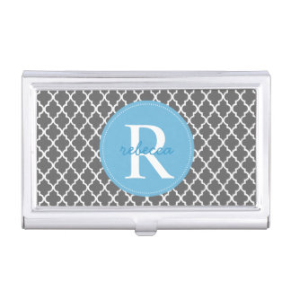 Trendy Moroccan Monogram Business Card Holder