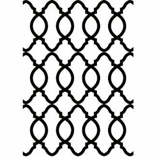 Trendy Moroccan Pattern Decorator Trellis Design Standing Photo Sculpture