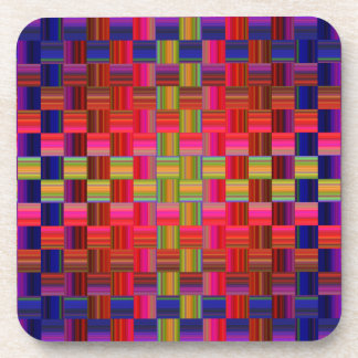 Trendy Multicolored Mosaic Tile Pattern Coaster