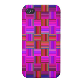Trendy Multicolored Mosaic Tile Pattern Cover For iPhone 4