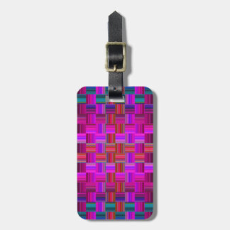 Trendy Multicolored Mosaic Tile Pattern Luggage Tag