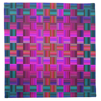 Trendy Multicolored Mosaic Tile Pattern Napkin