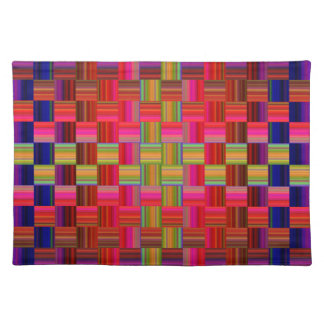 Trendy Multicolored Mosaic Tile Pattern Placemat