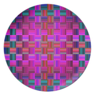 Trendy Multicolored Mosaic Tile Pattern Plate