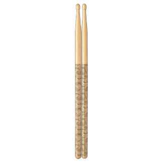 Trendy Mustache Pattern Drumsticks