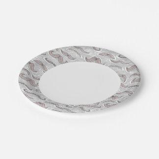 Trendy Mustache Pattern Paper Plate