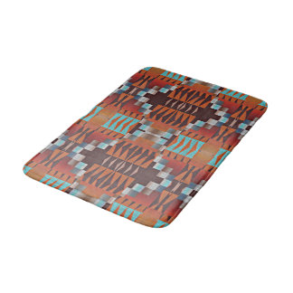 Trendy Native American Indian Tribal Pattern Bath Mats