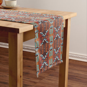 Trendy Native American Indian Tribal Pattern Medium Table Runner