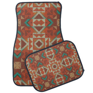 Trendy Native American Indian Tribe Mosaic Pattern Floor Mat