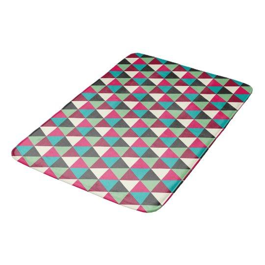 Trendy Native Southwestern Triangles Pattern Bath Mats