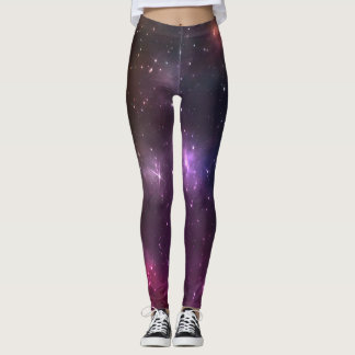 Trendy nebula galaxy leggings