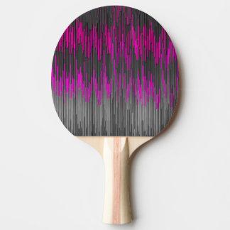 Trendy Neon Pink  black  ZigZag Chevron Pattern Ping Pong Paddle