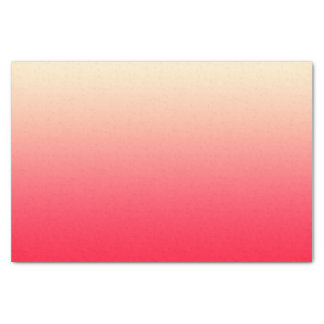 Trendy Neon Red to Vintage White Ombre Gradient Tissue Paper