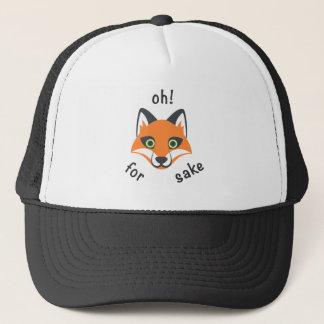Trendy Oh! For Fox Sake phrase Emoji Cartoon Trucker Hat