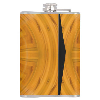 Trendy Orange Circle Pattern Hip Flask