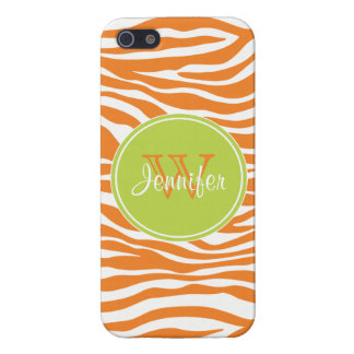 Trendy Orange & Lime Green Pattern, iPhone 5 iPhone 5/5S Case
