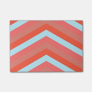 Trendy Orange Shades Large Chevron ZigZag Pattern Post-it Notes