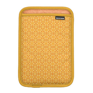 Trendy Orange, Yellow Fractal Pattern iPad Mini Sleeve