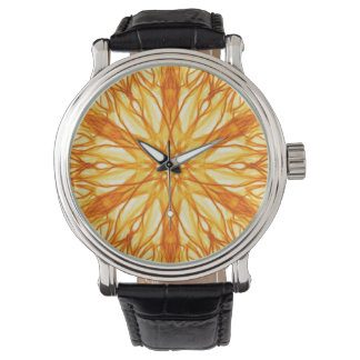 Trendy Orange, Yellow Fractal Watch