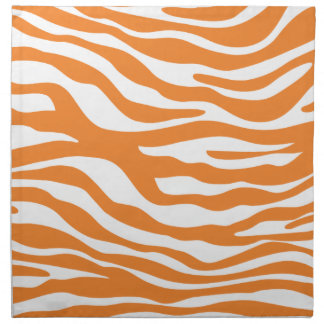 Trendy Orange Zebra Print Pattern Napkin