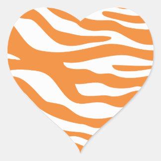 Trendy Orange Zebra Print Pattern Sticker