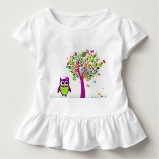 Trendy Owl Toddler T-Shirt