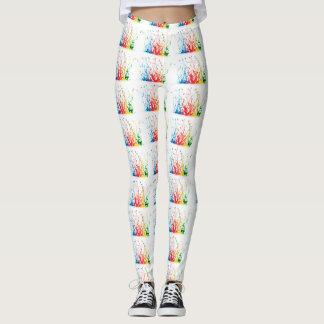 Trendy paint designed leggings
