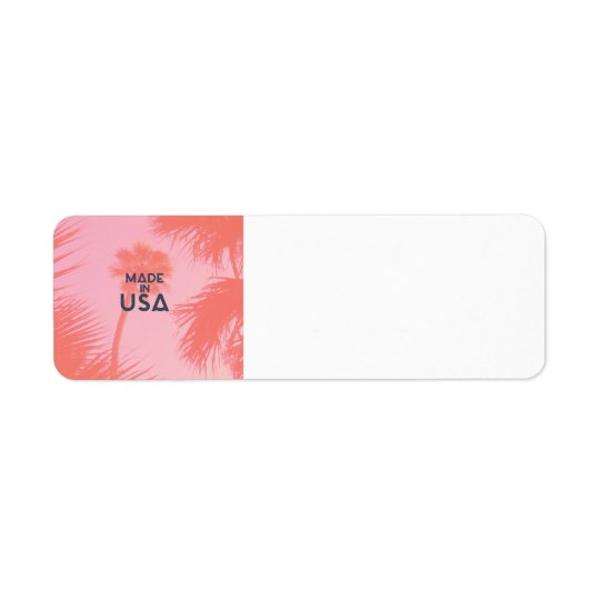 Trendy Palm Tree Bright Peach Made In  USA Type