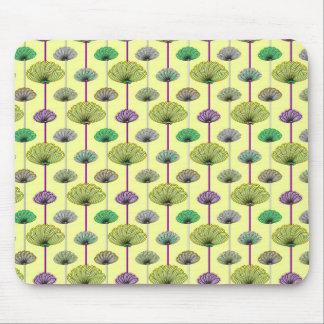 Trendy Pastel Floral Print Mouse Pad