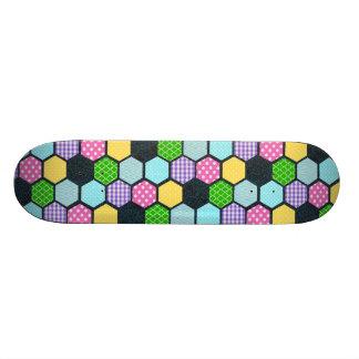 Trendy Pastel Girly honeycomb pattern 21.3 Cm Mini Skateboard Deck