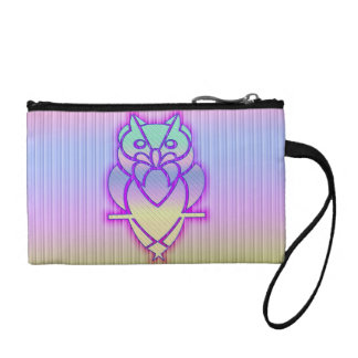 Trendy Pastel Owl Coin Purse
