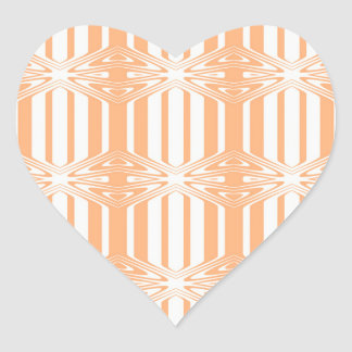 trendy pastel pattern 03a (I) Heart Sticker