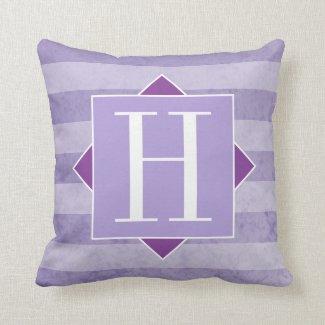 Trendy Pastel Purple Modern Monogram Cushion