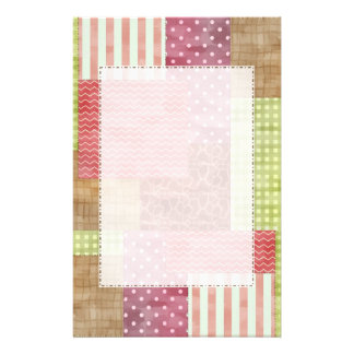 Trendy Patchwork Quilt Stationery