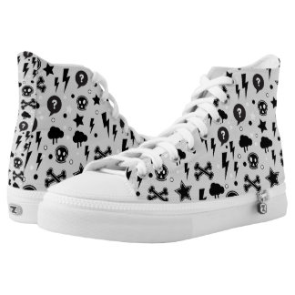 Trendy pattern high tops