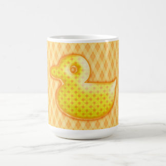 Trendy Patterned Rubber Ducky Mug