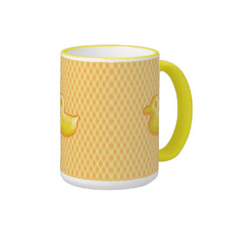 Trendy Patterned Rubber Ducky Coffee Mug