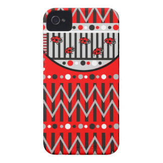 Trendy Patterns and Ladybugs iPhone 4 case