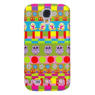 Trendy Patterns, Owls, Elephants, Ducks Galaxy S4 Case
